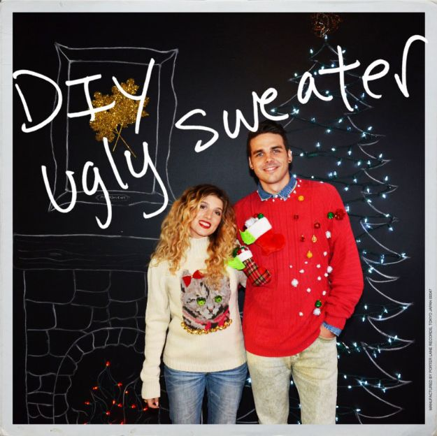DIY Ugly Christmas Sweaters - Embellished and Ugly Christmas Sweater - No Sew and Easy Sewing Projects - Ideas for Him and Her to Wear to Holiday Contest or Office Party Outfit - Funny Couples Sweater, Mens Womens and Kids #christmas