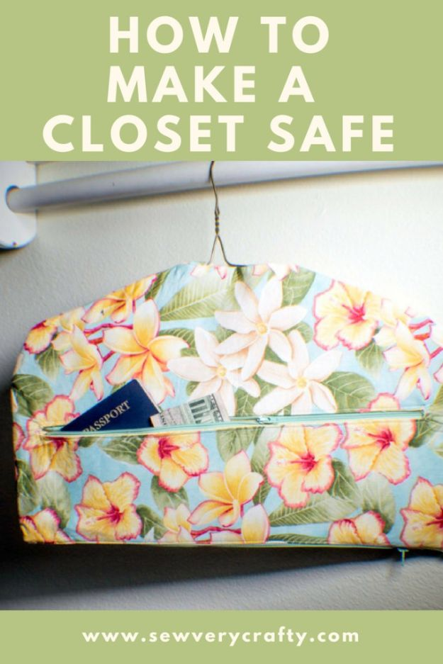 Easy Sewing Projects To Sew For Gifts - Fabric Closet Safe - Simple Sewing Tutorials and Free Patterns for Making Christmas and Birthday Presents - Cheap Ideas to Make and Sell on Etsy
