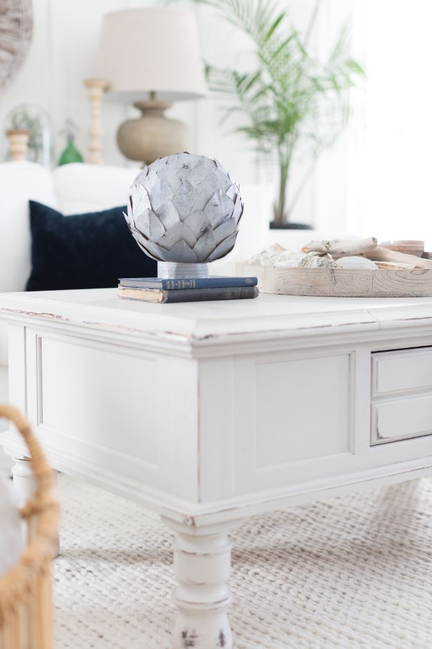 Magnolia Homes Decor Ideas - Faux Zinc Leaf Sphere - DIY Decor Inspired by Chip and Joanna Gaines - Fixer Upper Dining Room, Coffee Tables, Light Fixtures for Your House - Do It Yourself Decorating On A Budget With Farmhouse Style Decorations for the Home
