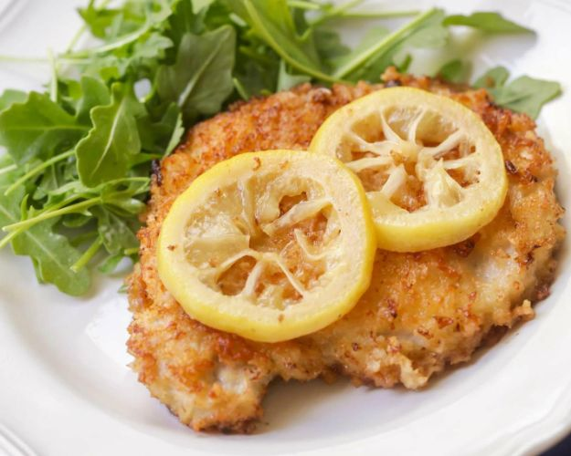 Pork Chop Recipes - Fried Pork Chops In A Lemon Butter Sauce - Best Recipe Ideas for Pork Chops - Healthy Baked, Grilled and Crockpot Dishes - Easy Boneless Skillet Chops #recipes #porkrecipes #porkchops
