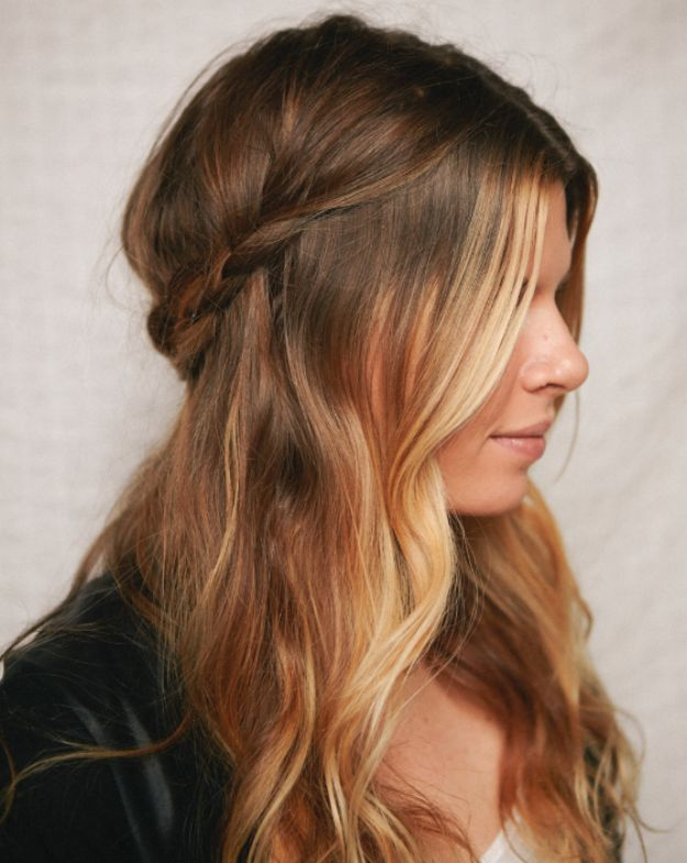 Holiday Hairstyles - Half-Up Braided Crown - Cute DIY Hair Styles for Christmas and New Years Eve, Special Occasion - Updos, Braids, Buns, Ponytails, Half Up Half Down Looks #hairstyles