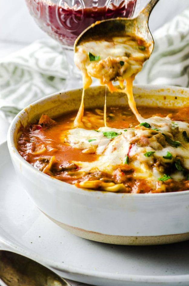 Vegan Recipes - High Protein Vegan Lasagna Soup - Easy, Healthy Plant Based Foods - Gluten Free Breakfast, Lunch and Dessert - Keto Diet for Beginners  #vegan #veganrecipes