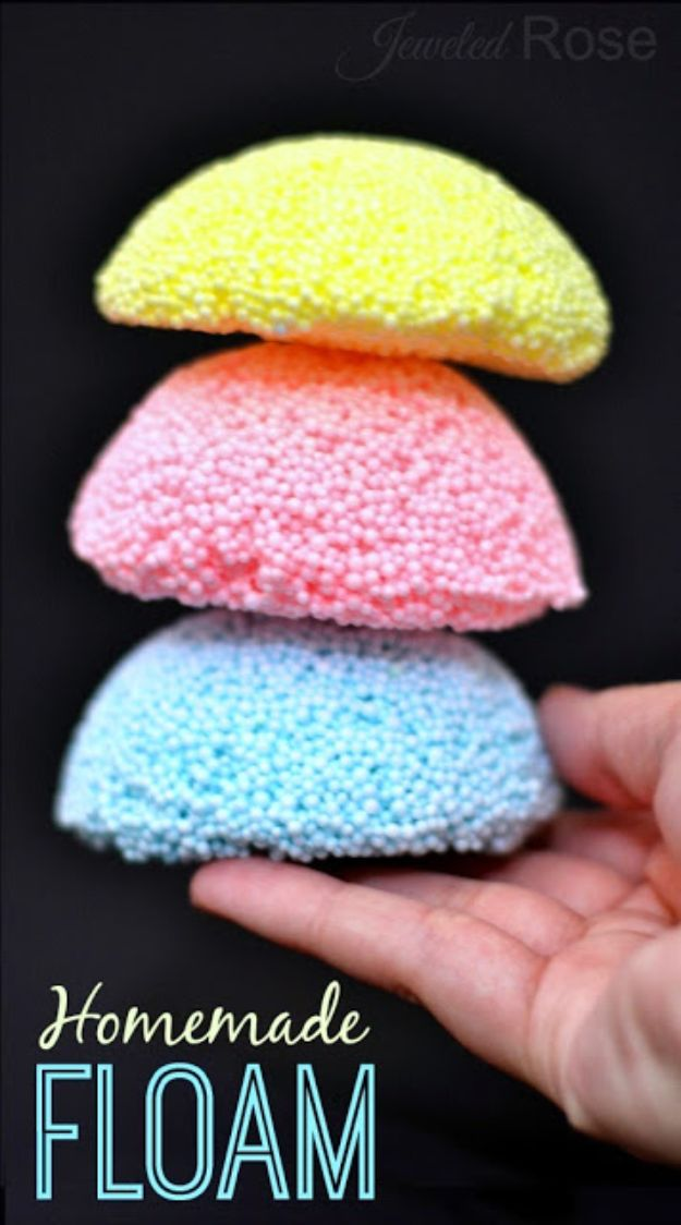 Easy Crafts for Kids - Homemade Floam - Quick DIY Ideas for Children - Boys and Girls Love These Cool Craft Projects - Indoor and Outdoor Fun at Home - Cheap Playtime Activities #kidscrafts
