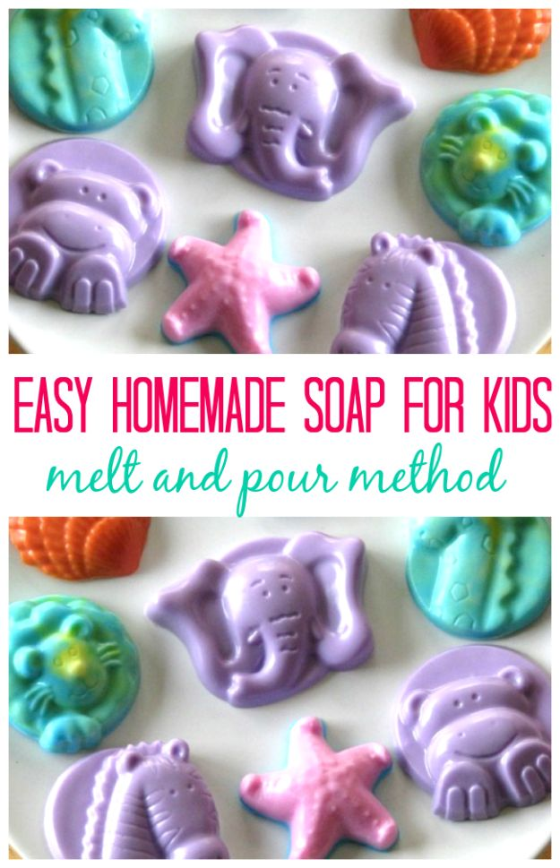 Easy Crafts for Kids - Homemade Soap For Kids - Quick DIY Ideas for Children - Boys and Girls Love These Cool Craft Projects - Indoor and Outdoor Fun at Home - Cheap Playtime Activities #kidscrafts