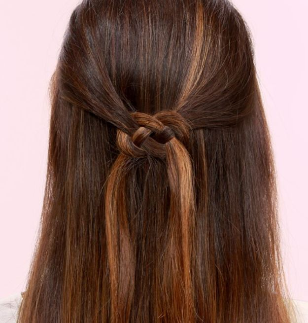 Holiday Hairstyles - Infinity Knot - Cute DIY Hair Styles for Christmas and New Years Eve, Special Occasion - Updos, Braids, Buns, Ponytails, Half Up Half Down Looks #hairstyles
