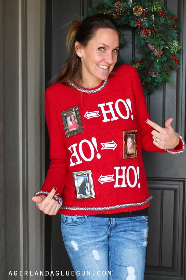DIY Ugly Christmas Sweaters - Interchangeable Ugly Christmas Sweater - No Sew and Easy Sewing Projects - Ideas for Him and Her to Wear to Holiday Contest or Office Party Outfit - Funny Couples Sweater, Mens Womens and Kids #christmas