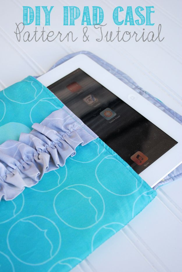 Easy Sewing Projects To Sew For Gifts - Ipad Sleeve Case - Simple Sewing Tutorials and Free Patterns for Making Christmas and Birthday Presents - Cheap Ideas to Make and Sell on Etsy