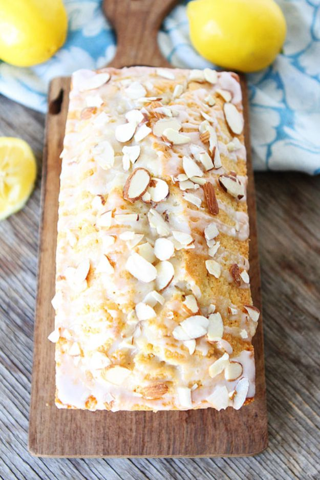 Breakfast Breads - Lemon Almond Bread - Homemade Breakfast Bread Recipes - Healthy Fruit, Nut, Banana and Vegetable Recipe Ideas - Best Brunch Dishes #breakfastrecipes #brunch https://diyjoy.com/breakfast-bread-recipes