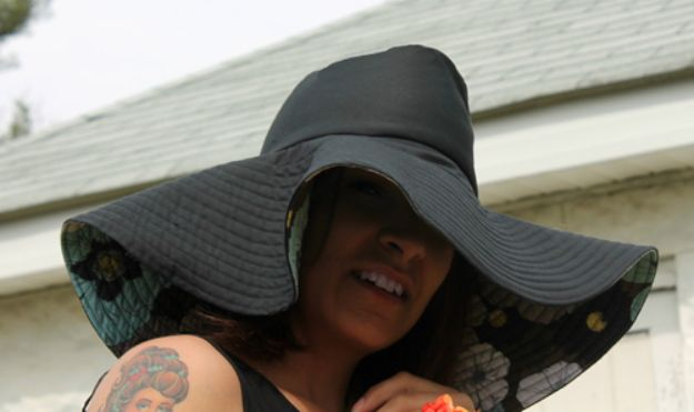 DIY Hats - Make A Floppy Fedora - Creative Do It Yourself Hat Tutorials for Making a Hat - Step by Step Tutorial for Cute and Easy Baseball Hat, Cowboy Hat, Flowers or Floral Tea Party Ideas, Kids and Adults, Knit Cap for Babies http://diyjoy.com/diy-hats