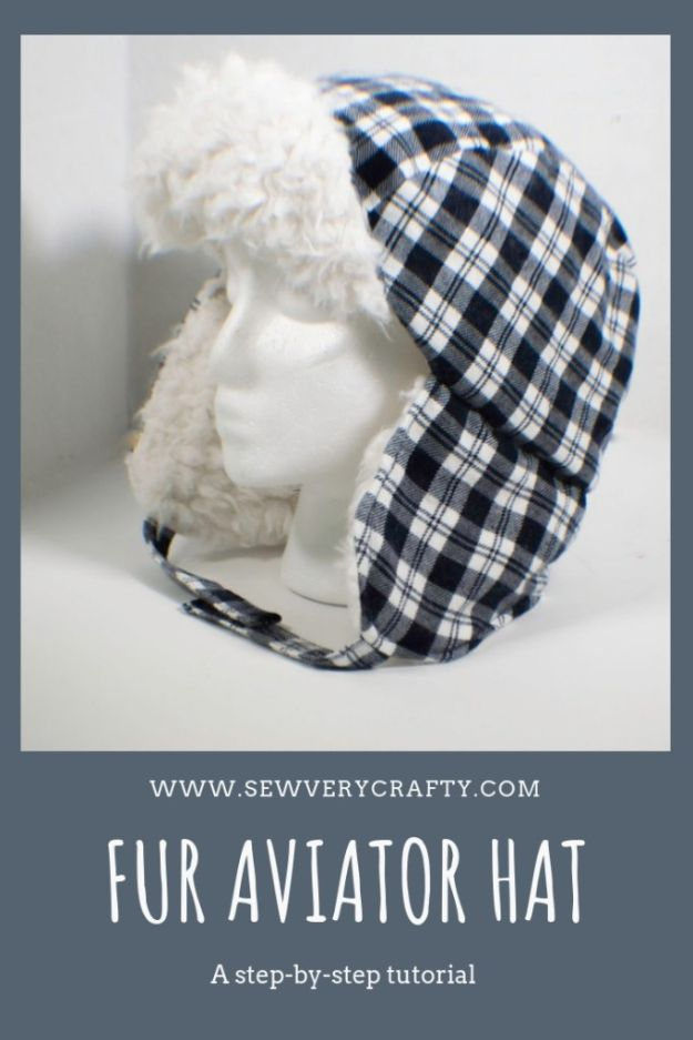 DIY Hats - Make a Boys Aviator Hat - Creative Do It Yourself Hat Tutorials for Making a Hat - Step by Step Tutorial for Cute and Easy Baseball Hat, Cowboy Hat, Flowers or Floral Tea Party Ideas, Kids and Adults, Knit Cap for Babies #hats #diyclothes