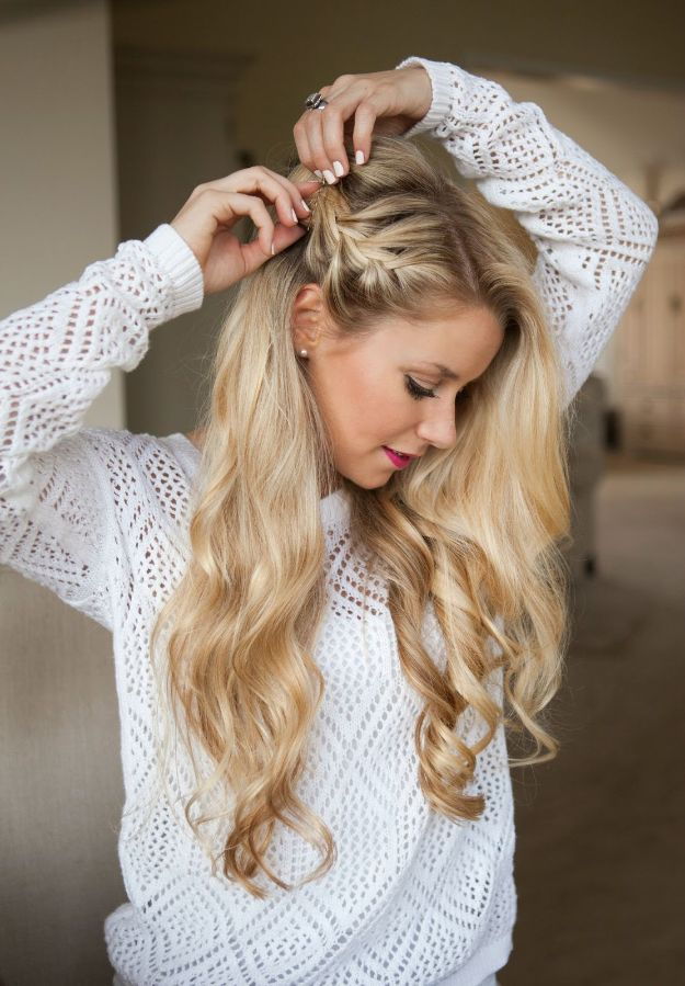 Holiday Hairstyles - Mini Side Braid - Cute DIY Hair Styles for Christmas and New Years Eve, Special Occasion - Updos, Braids, Buns, Ponytails, Half Up Half Down Looks  #hairstyles