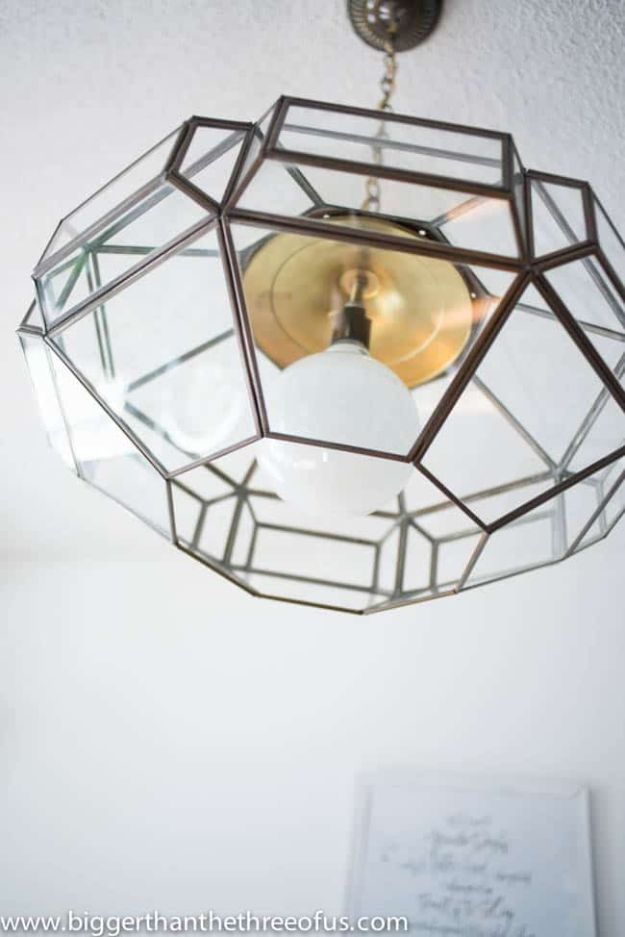 DIY Lighting Ideas - Modernize A Thrifted Light - Indoor Lighting for Bedroom, Kitchen, Bathroom and Home - Outdoor Do It Yourself Lighting Ideas for the Backyard, Patio, Porch Lights, Chandeliers, Lamps and String Lights https://diyjoy.com/diy-lighting-projects