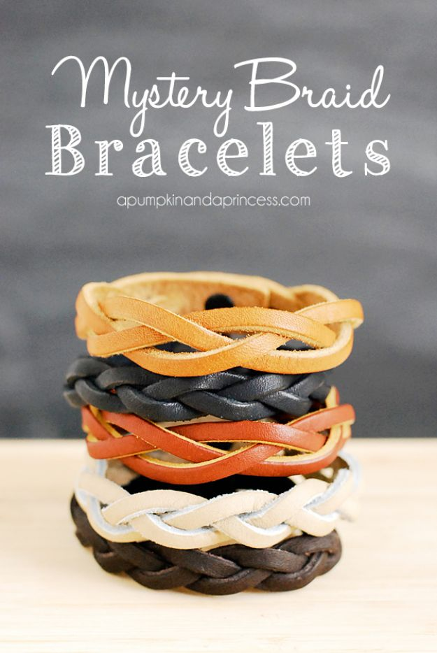 DIY Christmas Gifts - Mystery Braid Bracelet - Easy Handmade Gift Ideas for Xmas Presents - Cheap Projects to Make for Holiday Gift Giving - Mom, Dad, Boyfriend, Girlfriend, Husband, Wife #diygifts #christmasgifts https://diyjoy.com/diy-christmas-gifts