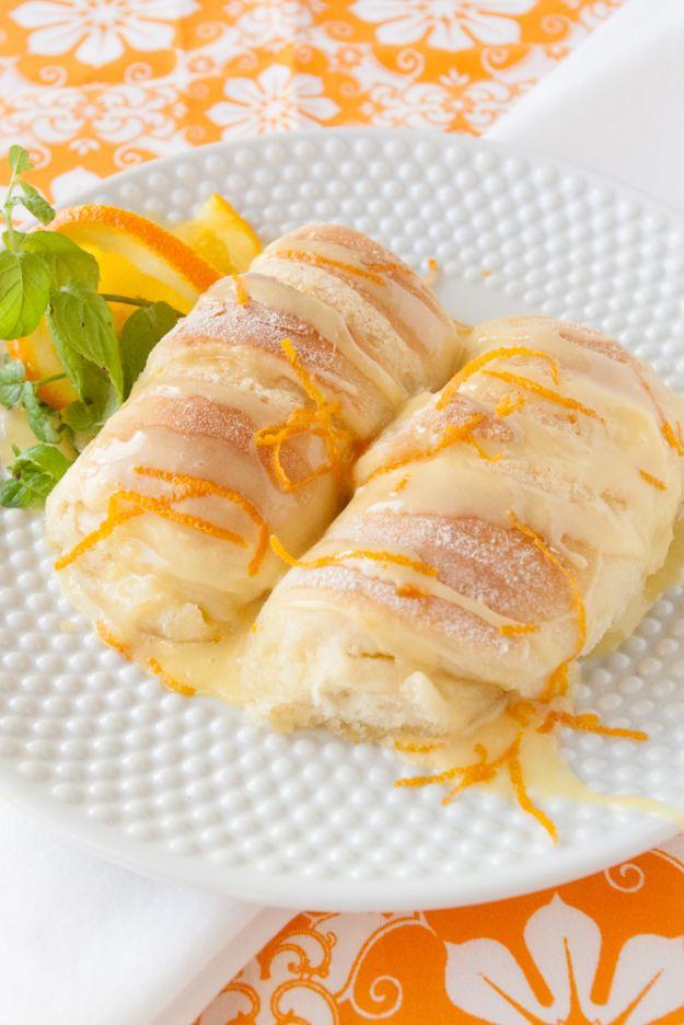 Breakfast Breads - Orange Sweet Rolls - Homemade Breakfast Bread Recipes - Healthy Fruit, Nut, Banana and Vegetable Recipe Ideas - Best Brunch Dishes
