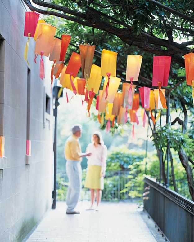 DIY Outdoor Lighting Ideas - Paper-Bag Party Lights - Do It Yourself Lighting Ideas for the Backyard, Patio, Porch and Pool - Lights, Chandeliers, Lamps and String Lights for Your Outdoors - Dining Table and Chair Lighting, Overhead, Sconces and Weatherproof Projects #diy #lighting
