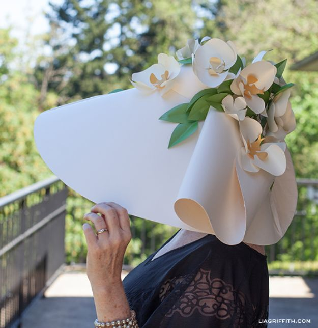DIY Hats - Paper DIY Kentucky Derby Hat - Creative Do It Yourself Hat Tutorials for Making a Hat - Step by Step Tutorial for Cute and Easy Baseball Hat, Cowboy Hat, Flowers or Floral Tea Party Ideas, Kids and Adults, Knit Cap for Babies http://diyjoy.com/diy-hats