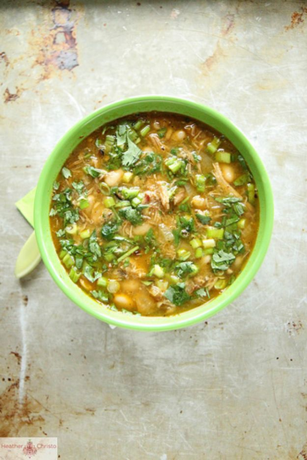 Chili Recipes - Pork Chili Verde - Easy Crockpot, Instant Pot and Stovetop Chili Ideas - Healthy Weight Watchers, Pioneer Woman - No Beans, Beef, Turkey, Chicken https://diyjoy.com/chili-recipes