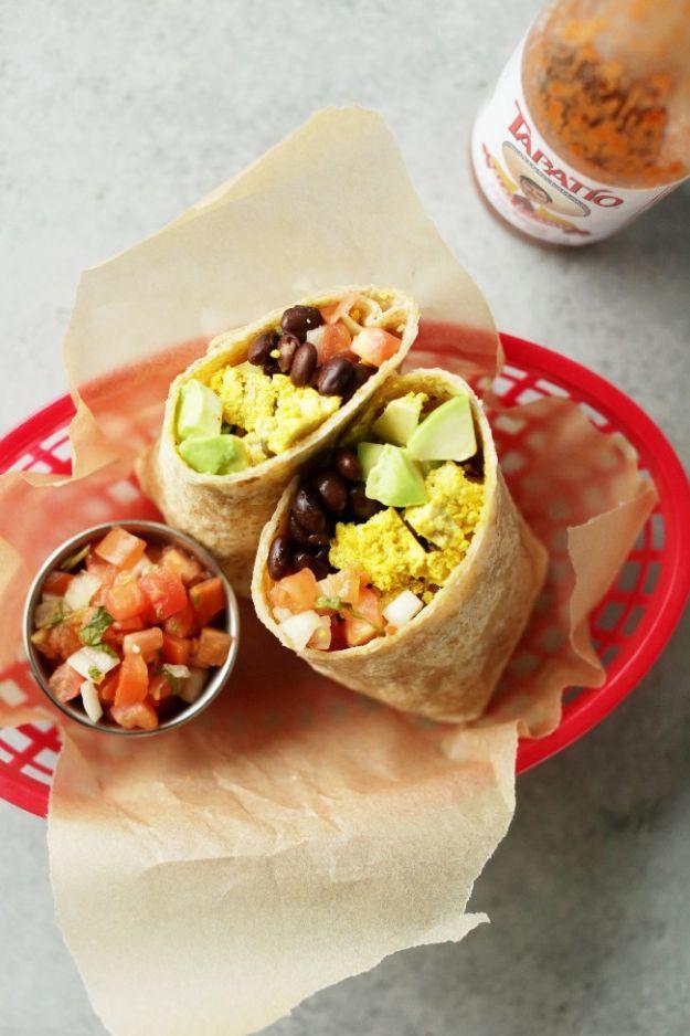 Vegan Recipes - Protein Packed Vegan Breakfast Burrito - Easy, Healthy Plant Based Foods - Gluten Free Breakfast, Lunch and Dessert - Keto Diet for Beginners  #vegan #veganrecipes