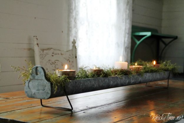 DIY Christmas Decorations - Repurposed Christmas Candle Holder Centerpieces - Easy Handmade Christmas Decor Ideas - Cheap Xmas Projects to Make for Holiday Decorating - Home, Porch, Mantle, Tree, Lights #diy #christmas #diydecor #holiday