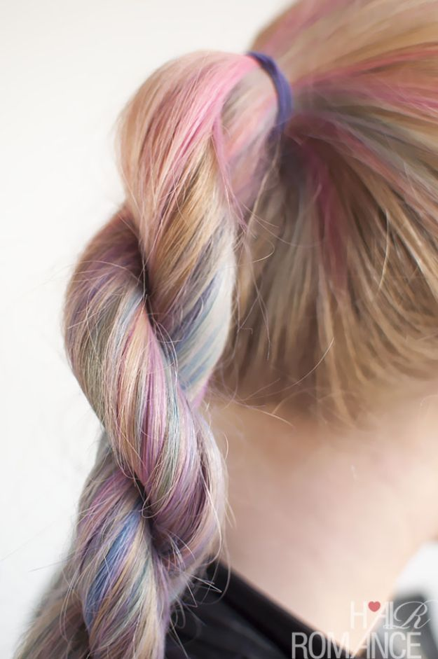 Holiday Hairstyles - Rope Twist Braid - Cute DIY Hair Styles for Christmas and New Years Eve, Special Occasion - Updos, Braids, Buns, Ponytails, Half Up Half Down Looks #hairstyles