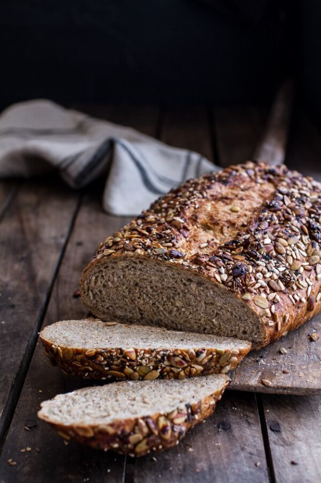 Breakfast Breads - Seeded Whole Grain Breakfast Bread - Homemade Breakfast Bread Recipes - Healthy Fruit, Nut, Banana and Vegetable Recipe Ideas - Best Brunch Dishes #breakfastrecipes #brunch https://diyjoy.com/breakfast-bread-recipes