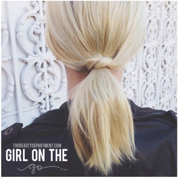 Holiday Hairstyles - Short Hair Ponytail - Cute DIY Hair Styles for Christmas and New Years Eve, Special Occasion - Updos, Braids, Buns, Ponytails, Half Up Half Down Looks #hairstyles