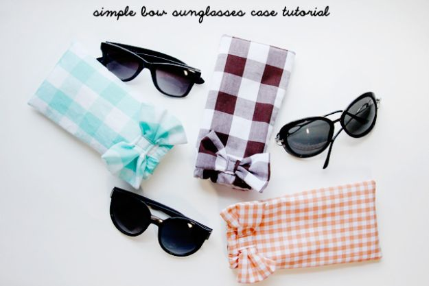 Easy Sewing Projects To Sew For Gifts - Simple Sunglasses Case - Simple Sewing Tutorials and Free Patterns for Making Christmas and Birthday Presents - Cheap Ideas to Make and Sell on Etsy http://diyjoy.com/quick-diy-gifts-sewing-projects