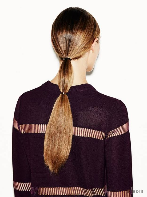 Holiday Hairstyles - Sleek Double Ponytail in Under 3 Minutes - Cute DIY Hair Styles for Christmas and New Years Eve, Special Occasion - Updos, Braids, Buns, Ponytails, Half Up Half Down Looks #hairstyles