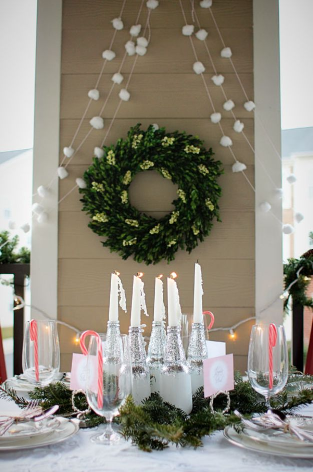 DIY Christmas Decorations - Snowball Garland DIY - Easy Handmade Christmas Decor Ideas - Cheap Xmas Projects to Make for Holiday Decorating - Home, Porch, Mantle, Tree, Lights #diy #christmas #diydecor #holiday
