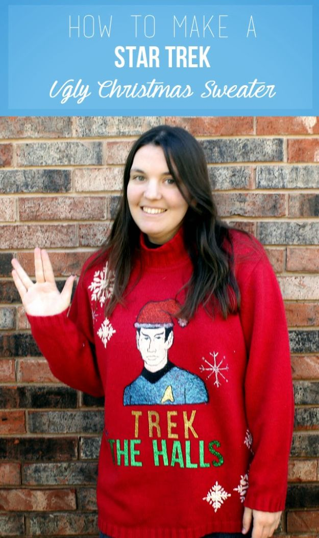DIY Ugly Christmas Sweaters - Sparkle Ugly Christmas Sweater - No Sew and Easy Sewing Projects - Ideas for Him and Her to Wear to Holiday Contest or Office Party Outfit - Funny Couples Sweater, Mens Womens and Kids #christmas