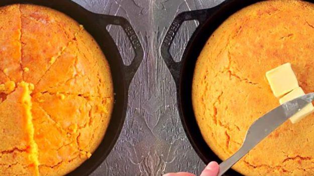 Breakfast Breads - Sweet Potato Cornbread - Homemade Breakfast Bread Recipes - Healthy Fruit, Nut, Banana and Vegetable Recipe Ideas - Best Brunch Dishes