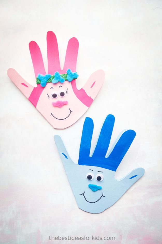 Easy Crafts for Kids - Trolls Craft - Quick DIY Ideas for Children - Boys and Girls Love These Cool Craft Projects - Indoor and Outdoor Fun at Home - Cheap Playtime Activities #kidscrafts