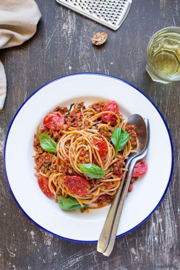 Vegan Recipes - Vegan Bolognese - Easy, Healthy Plant Based Foods - Gluten Free Breakfast, Lunch and Dessert - Keto Diet for Beginners  #vegan #veganrecipes