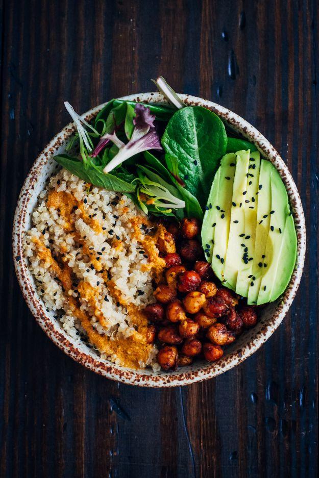 Vegan Recipes - Vegan Buddha Bowl - Best Vegan Recipe Ideas - Easy, Healthy Plant Based Foods - Gluten Free Breakfast, Lunch and Dessert - Keto Diet for Beginners  #vegan #veganrecipes