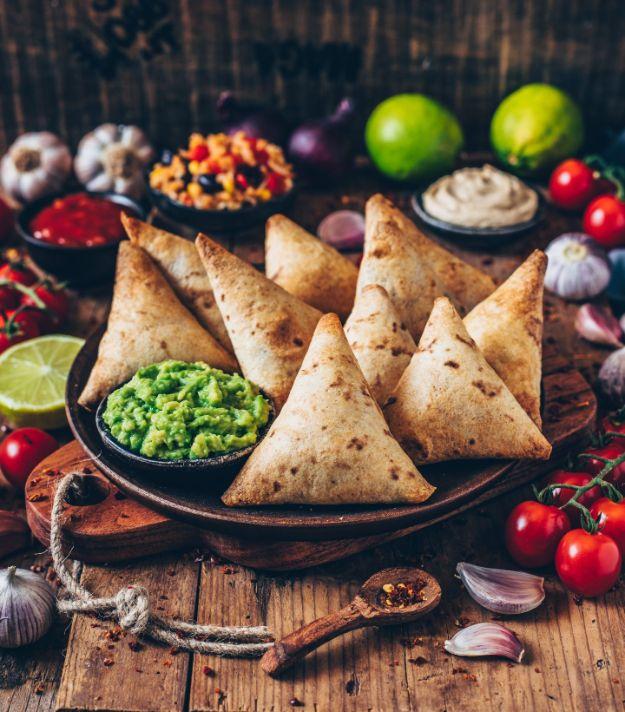Vegan Recipes - Vegan Burrito Samosas with Guacamole + Cashew Dip - Best Vegan Recipe Ideas - Easy, Healthy Plant Based Foods - Gluten Free Breakfast, Lunch and Dessert - Keto Diet for Beginners  #vegan #veganrecipes