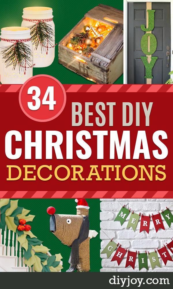 Best DIY Christmas Decorations - Easy Homemade Christmas Decorations #diy #christmas