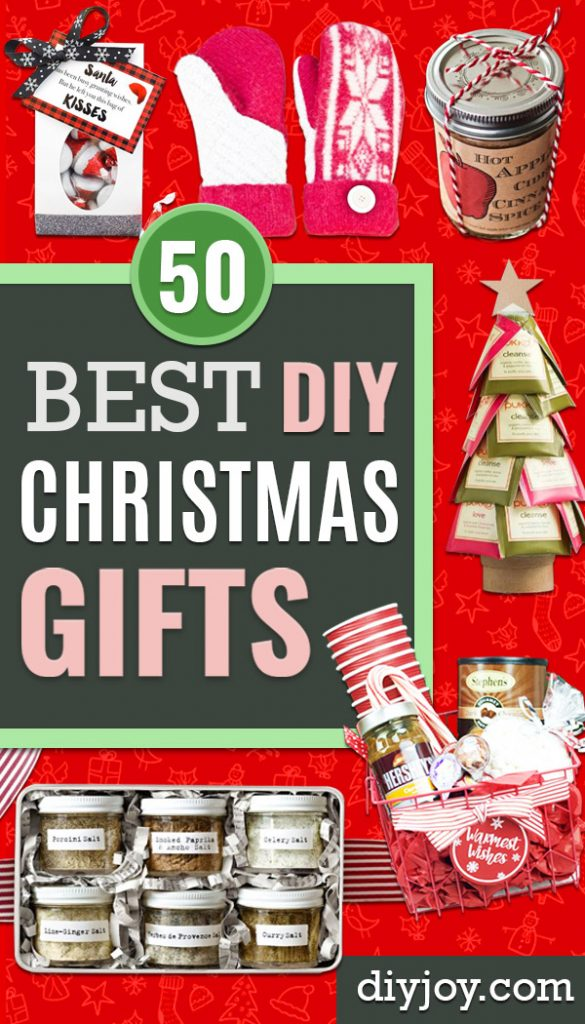 DIY Christmas Gifts - Easy Handmade Gift Ideas for Xmas Presents - Cheap Projects to Make for Holiday Gift Giving - Mom, Dad, Boyfriend, Girlfriend, Husband, Wife #diygifts #christmasgifts