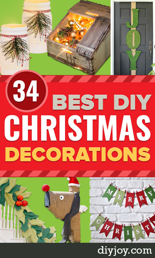 DIY Christmas Decorations - Cheap Ways to Decorate At Christmas and Holidays - DYI Decor Ideas