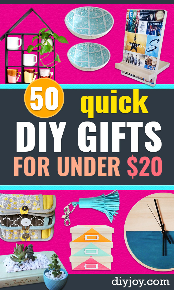 Quick DIY Gifts - Last Minute DIY Gift Ideas for Christmas Presents, Birthday, Anniversary, Friends