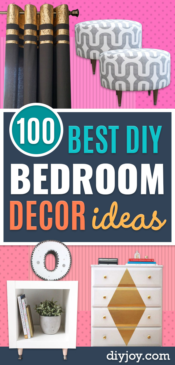 DIY Bedroom Decor Ideas - Easy Room Decor Projects for The Home - Cheap Farmhouse Crafts, Wall Art Idea, Bed and Bedding, Furniture