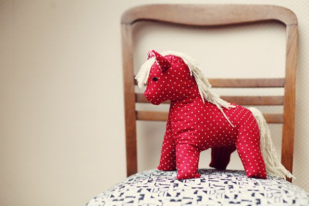 DIY Nursery Decor Ideas for Boys - 1950's Toy Horse - Cute Blue Room Decorations for Baby Boy- Crib Bedding, Changing Table, Organization Idea, Furniture and Easy Wall Art