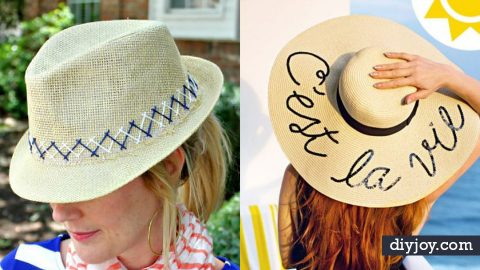 26 DIY Hats Guaranteed to Complete Your Outfit | DIY Joy Projects and Crafts Ideas