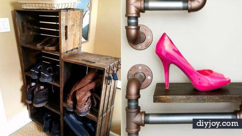 34 DIY Shoe Racks   DIY Joy Projects and Crafts Ideas