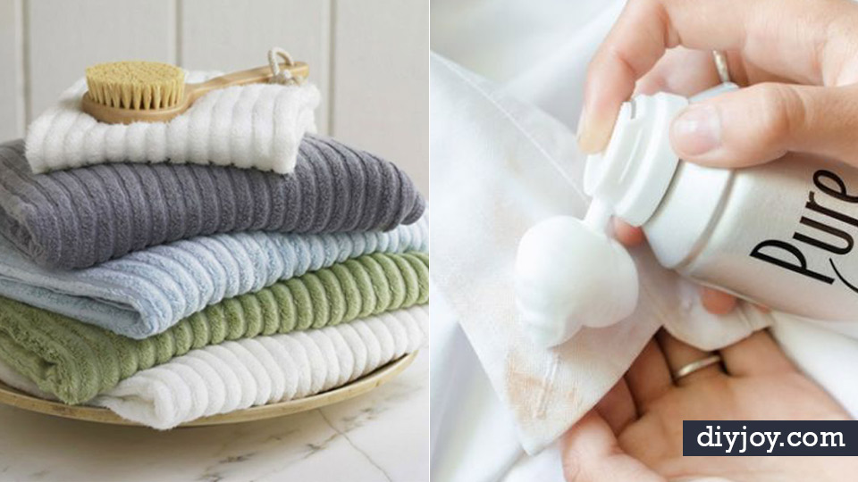 Laundry Hacks - Use Salt in Doing Laundry - Cool Tips for Busy Moms and Laundry Lifehacks - Laundry Room Organizing Ideas, Storage and Makeover - Folding, Drying, Cleaning and Stain Removal Tips for Clothes - How to Remove Stains, Paint, Ink and Smells - Whitening Tricks and Solutions - DIY Products and Recipes for Clothing Soaps http://diyjoy.com/laundry-hacks