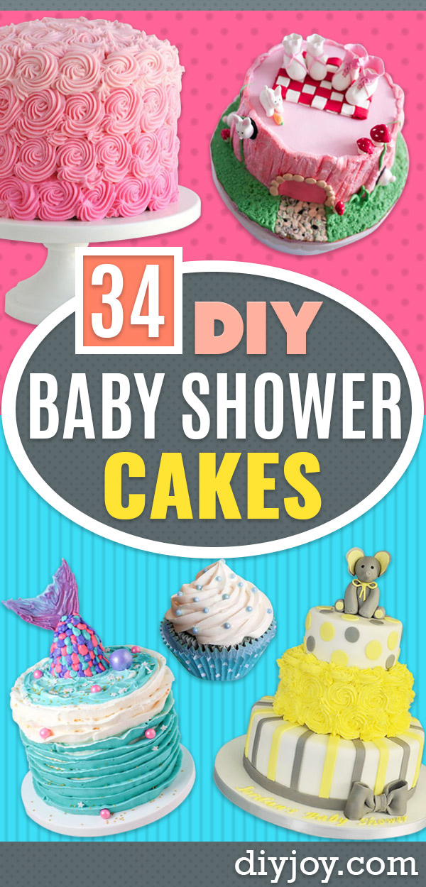 Baby Shower Cakes DIY - Easy Cake Recipes and Cupcakes to Make For Babies Showers - Ideas for Boys and Girls, Neutral, for Twins