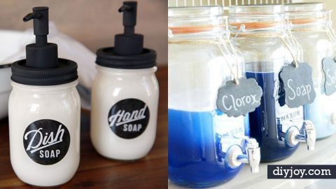 34 DIY Soap Dispensers Your Home Needs | DIY Joy Projects and Crafts Ideas