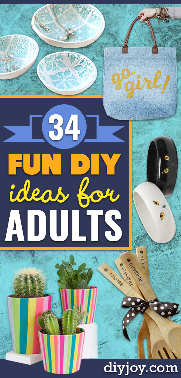 Fun DIY Ideas for Adults - Easy Crafts and Gift Ideas , Cool Projects That Are Fun to Make - Crafts Idea for Men and Women