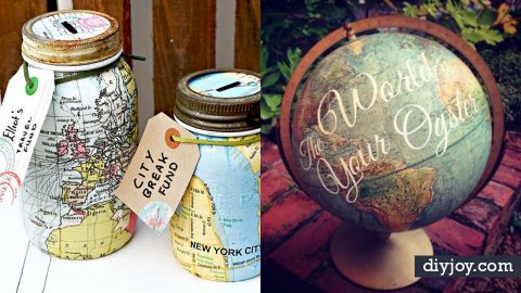 36 Cool DIYs To Make With Maps   DIY Joy Projects and Crafts Ideas