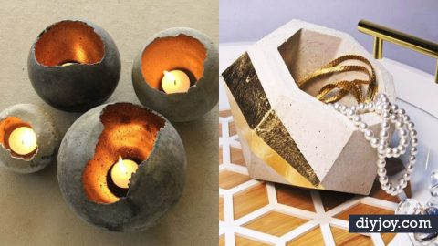 37 DIY Projects Made With Concrete | DIY Joy Projects and Crafts Ideas