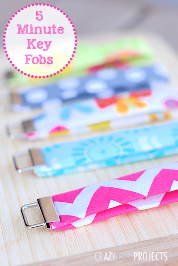Sewing Projects to Make and Sell - 5 Minute Key Fob - Easy Things to Sew and Sell on Etsy and Online Shops - DIY Sewing Crafts With Free Pattern and Tutorial